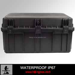IP67 Hard PP Military plastic storage tool case /waterproof large container carrying case for equipment HIKINGBOX HTC032
