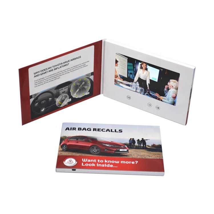 "7 "" LCD video mailer /digital video business card/video brochure"
