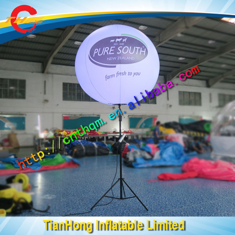 outdoor advertising tripod inflatable light balloon/led light inflatabe pole balloon