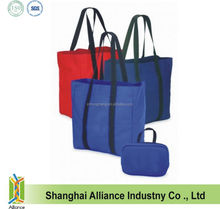 600D polyester Foldable Tote bag with Full Length Shoulder Handle (CF-162)