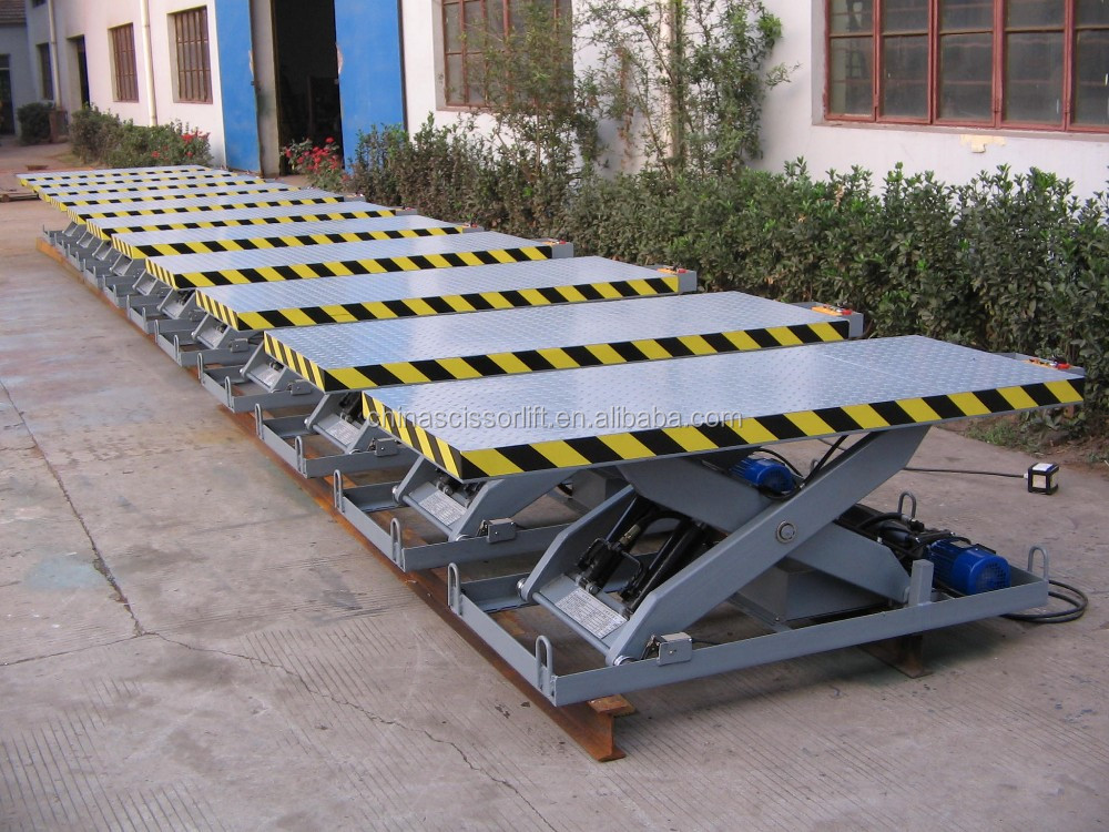 Hydraulic Scissor Heavy Duty Portable Lift/Fixed Surface Mounted Dock Lifts