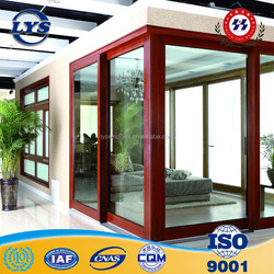 China famous brand aluminium glass sunrooms powdercoat grey color with 6mm thickness tempered safety glass and mosquito nets