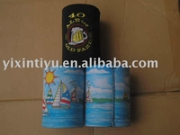 neoprene can cooler with embroidery