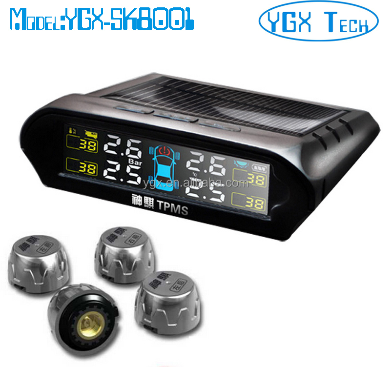 Solar Power tpms,Tire pressure monitor system with internal sensor or external sensor, tire pressure gauge