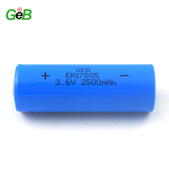 ER17505 A LiMnO2 battery 3500mAh 3.6V applied for Electronics productions