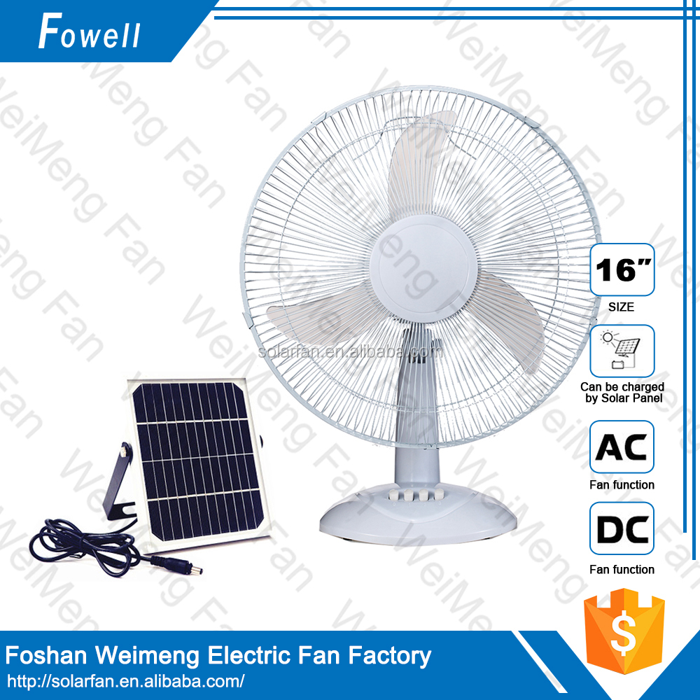 2016 Hot Sale High Quality Solar Power Mini DC Table Fan