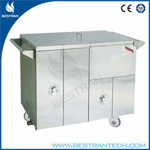 BT-SFT005 CE quality cheap stainless steel hospital steam heating food warmer, patient food warmer cart with wheel