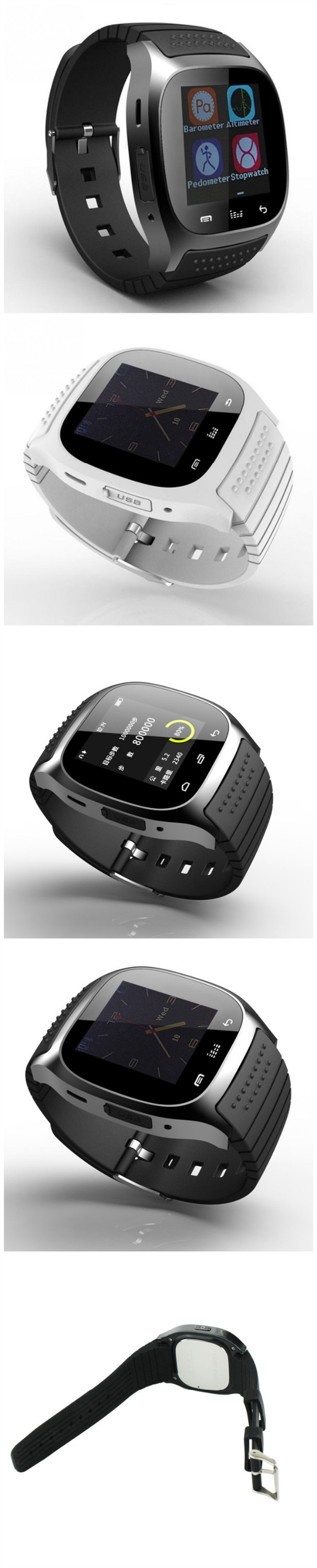 smart watch 2016 1.4inch waterproof m26 smart watch Bluetooth Phone watch for Android and IOS