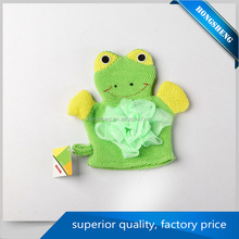 Hot selling Custom animal shapes baby bath sponge with high Quality