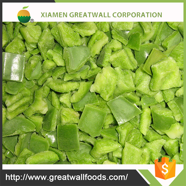 iqf frozen green bell pepper