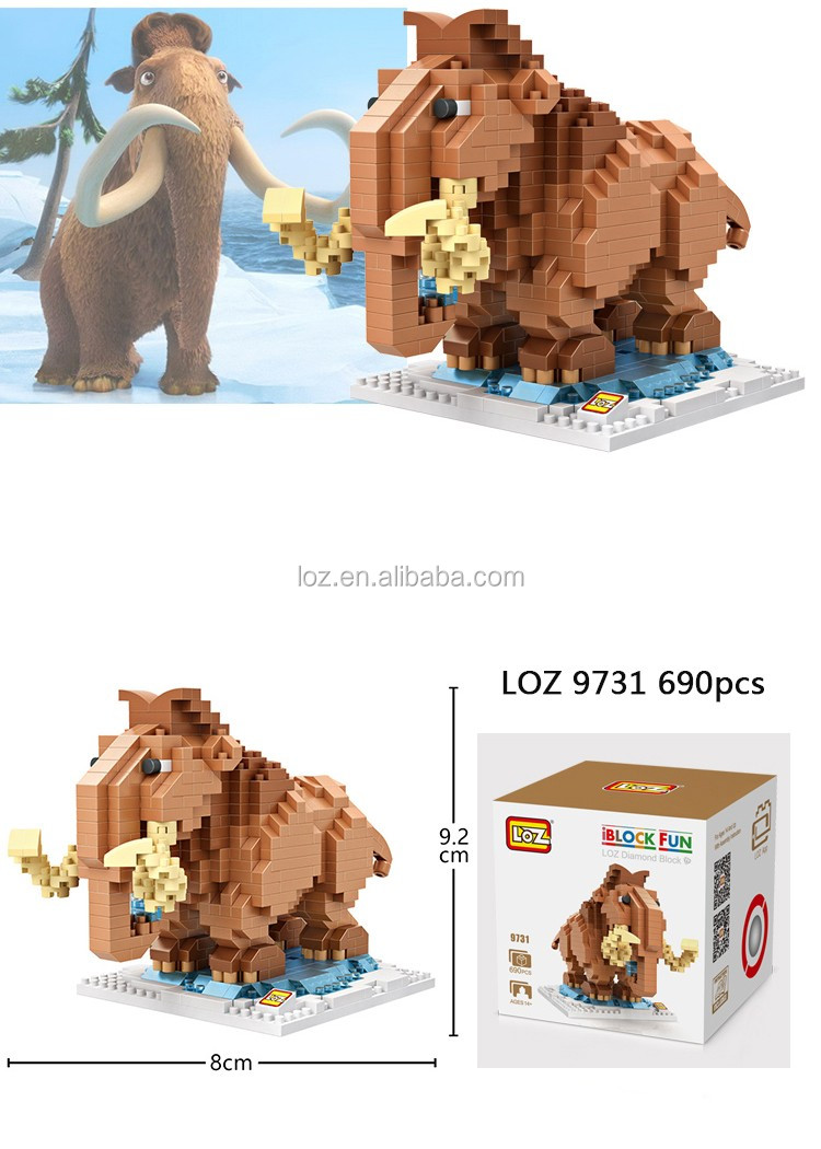 LOZ micro bock brick toy children building block gift