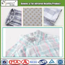 Knitted cotton blend fabric breathable far infrared massage sleepwear
