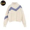 iGift BSCI Uniform Factory Custom Pullovers Thick Knitted Girls Sweater Design