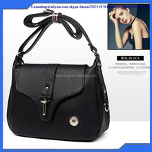 2016 New Designs Black Famous Brand Genuine Leather Bag Cheap Shoulder Bags Manufacture