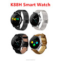 K88H Voice Smart Watch support Weather reminder IPS capacitive touch screen Magnet Pogo pin Charger with Speaker