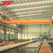 China Top crane manufacturer 10t lh model double beam electric overhead crane with hoist
