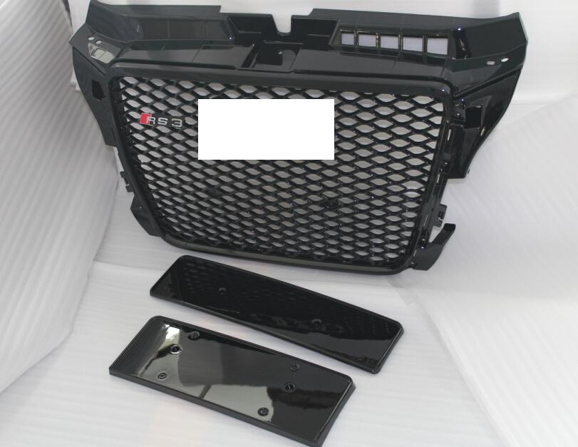 Original glossy black front grill for Audi A3 RS3 8P 8P0853651T