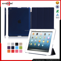 Hot Sales fashion case stand ultra thin magnetic smart cover auto wake sleep for ipad 234 Many folded 4 styles