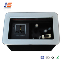 JS-440 Hidden Black /Silver Electrical Conference Table Cable Power Socket