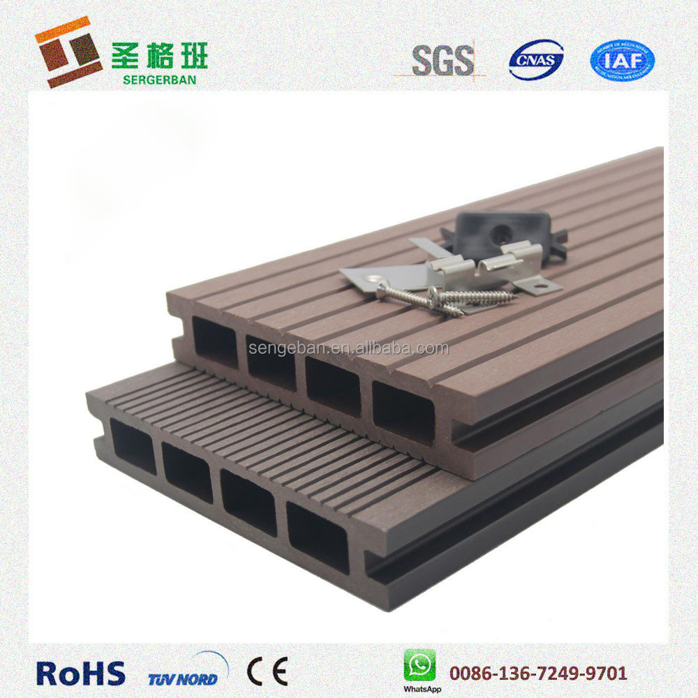 2016 New Plastic Wood Decking Plastic Wood Flooring