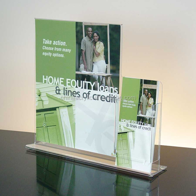 Retail Display Signs New Design Acrylic Sign/Brochure Holder