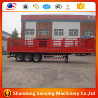 Hot selling China 3 axles 12 wheels cargo fence semi trailer