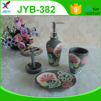 High quality colorful decal ceramic bathroom accessory set for kids