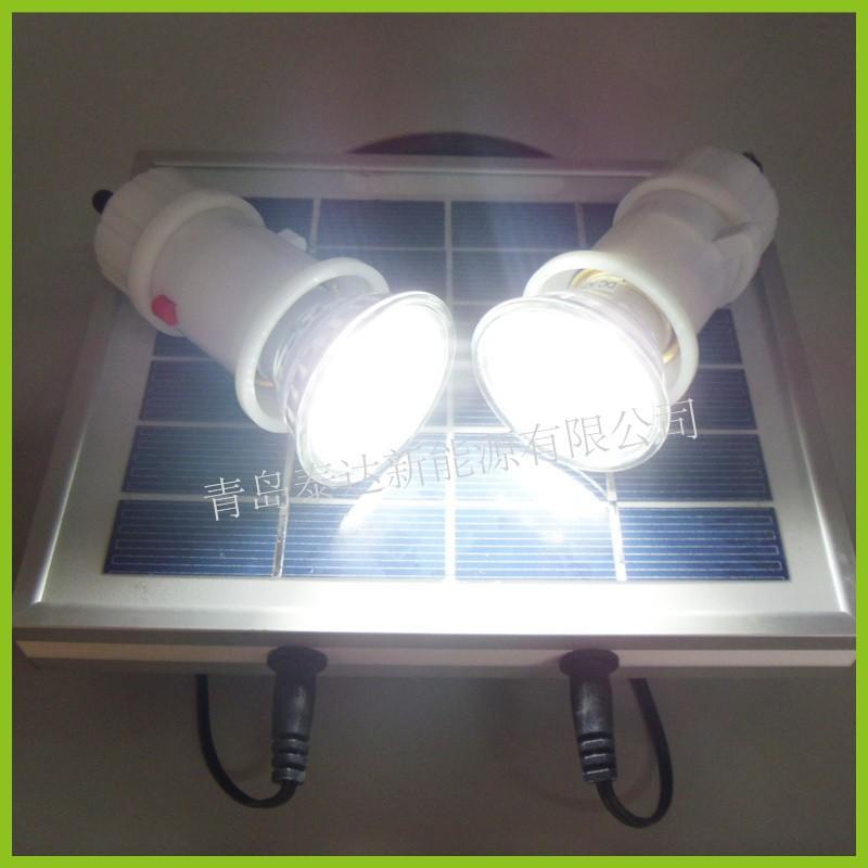 Portable 3 w mini solaire kit d 39 clairage lampe solaire for Eclairage solaire interieur
