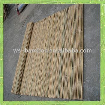 Garden decoration of bamboo fence