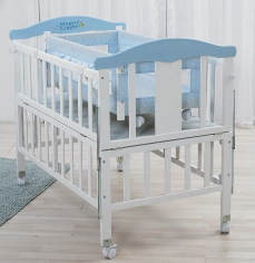 one set two beds environmental material fashion functional wooden baby bed