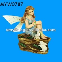 Fairy figurines glen handmade resin fairy sitting