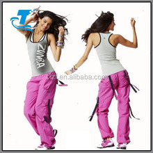 Fashion wholesale dance trousers lady pantalon zumba cargo pants