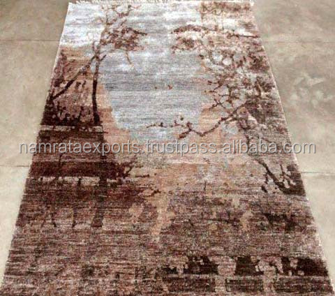 Indo Nepali Hand Knotted 10/32- 80 knots/Sq. inch Art Silk rugs
