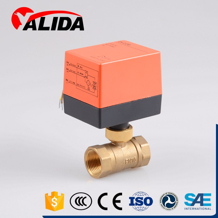 Accurate temperature control equipment brass electric ball valve