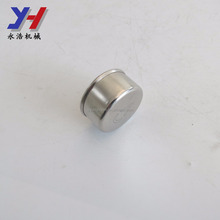 Custom made stainless steel metal threaded tube screw end caps