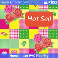 Latest waterproof sponge design pvc flooring