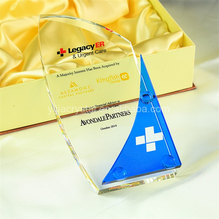 Exquisite Personalized Custom 27cm Crystal Awards and trophies for Corporate Gift