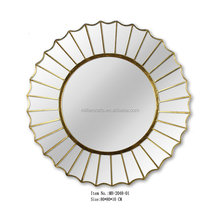 MH-2048-01 Iron round shaped decorative mirror for hotel project