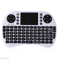 2.4GHz Mini I8 Wireless Keyboard with Touchpad Mouse For MXQ MX TV BOX