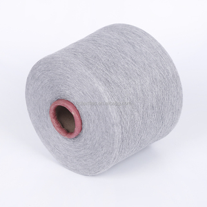 new recycled blended open end cotton Grey color melange yarn