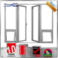 Custom as2047 aluminum double entry door for resturant apartment hotel