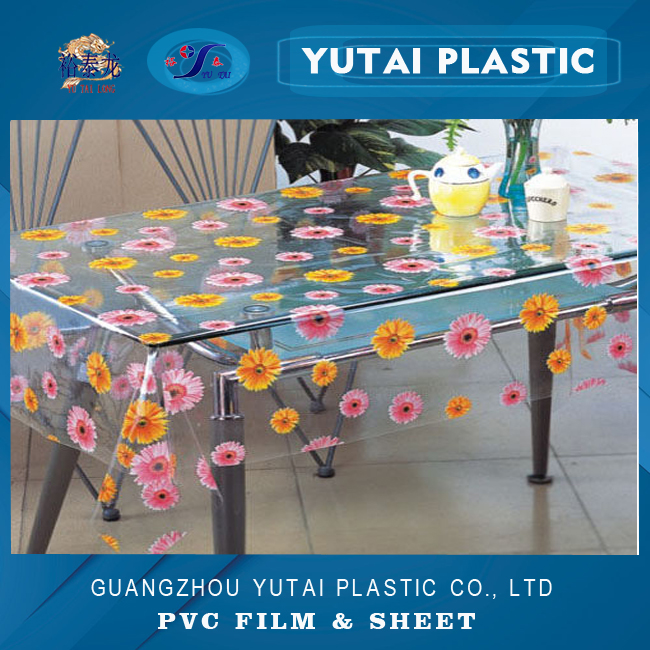 printable pvc plastic film for tablecloth cover