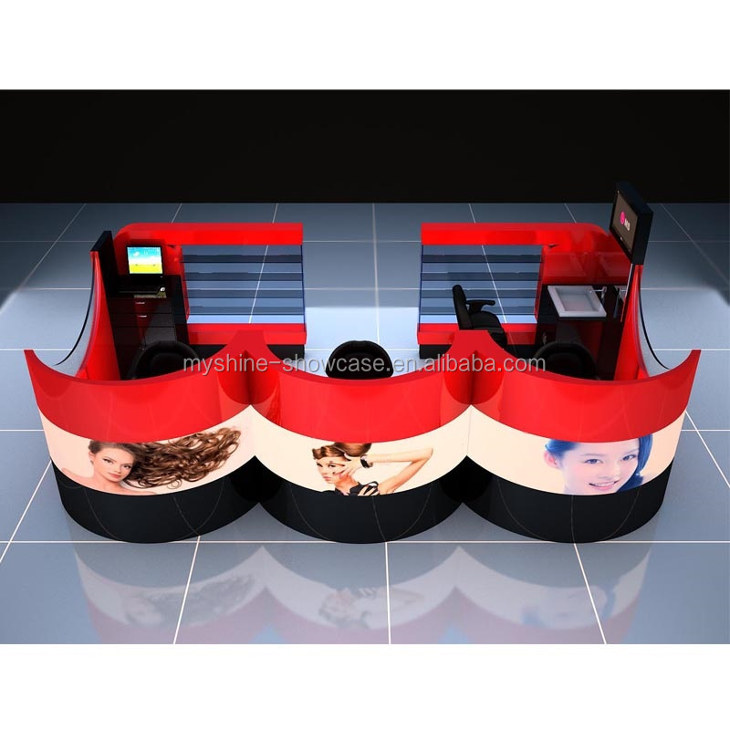 mall hair dressing kiosk design for sale