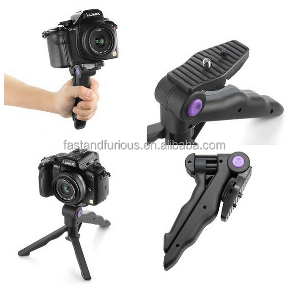 "<strong>1</strong>/4"" portable folding mini tripod video tripod extendable monopod desktop mini tripod <strong>M</strong>-07"