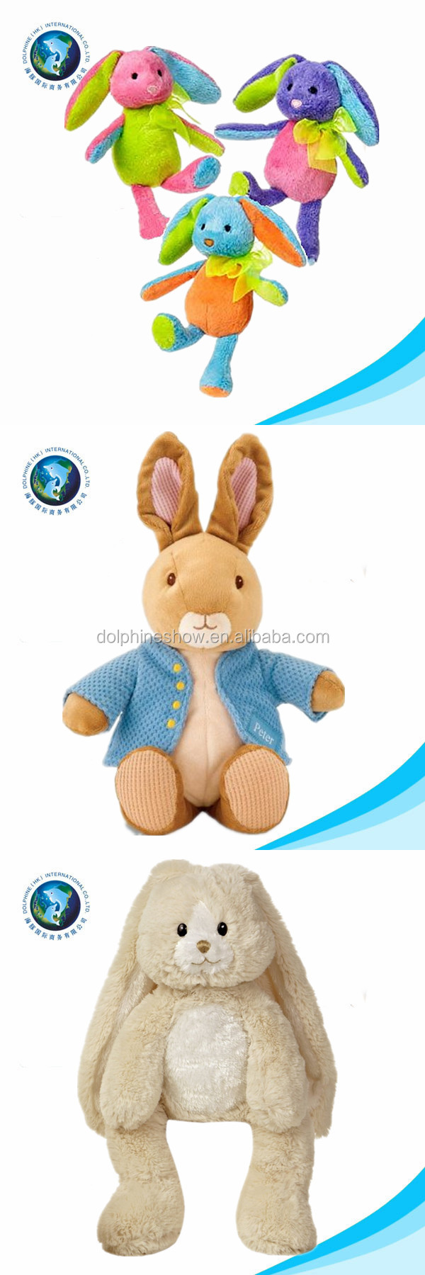 plush rabbit easter day gift funny bunny soft stuffed wholesale easter bunny