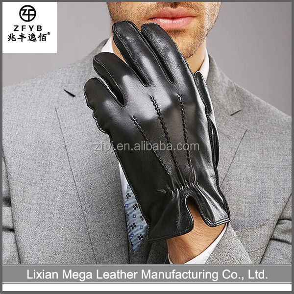 High quality custom black german leather gloves importers