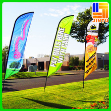Outdoor full color heavy duty teardrop flying banner beach flag