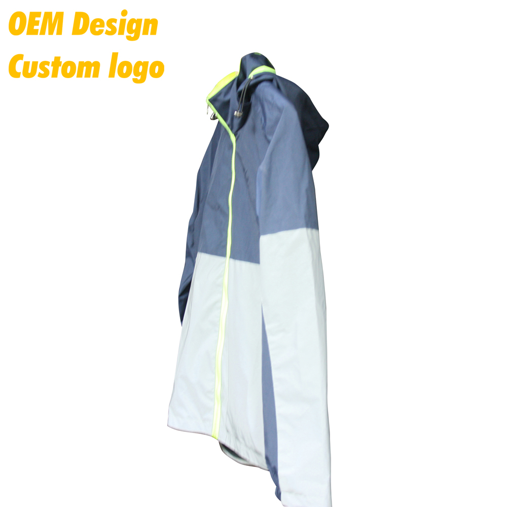 Custom Printing Logo Custom Color Low MOQ Polyester Men Safety 3M Reflective Jacket