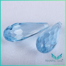 Hot sale wholesale synthetic raw teardrop-shaped spinel aquamarine spinel gemstone for Jewelry making