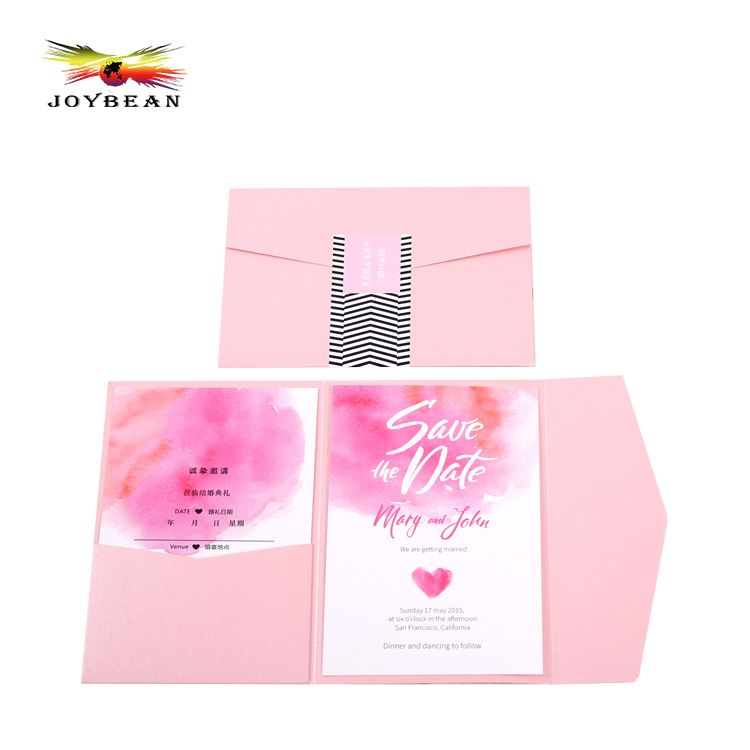 Wholesale OEM logo printing luxury customized design cutting wedding invitation card